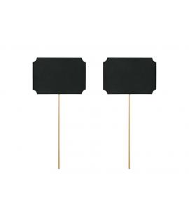 2 x tableau noir à écrire sur tige pour photobooth