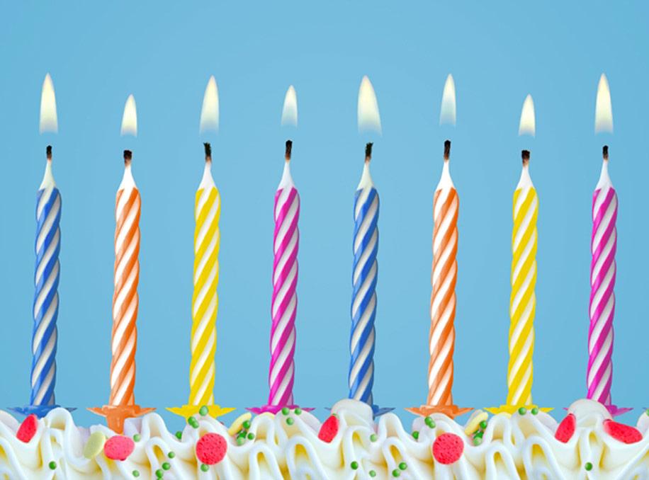 Bougie Anniversaire 10x bougie d'anniversaire multicolore pour gâteau