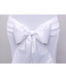 10 x ruban satin large blanc pour nœud de chaise