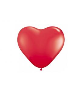 10x Ballon à gonfler bordeaux en forme de coeur