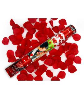 Canon à pétales de rose rouge foncé (format : 40 cm)