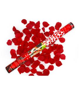 Canon à pétales de rose rouge foncé (format : 60 cm)