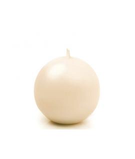 Bougie sphérique mate crème 45 mm