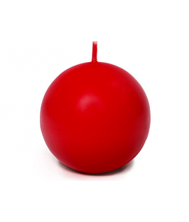 Bougie sphérique mate rouge 80 mm