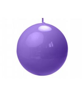 Bougie sphérique laquée couleur bruyère (diamètre 100mm)