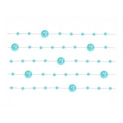 5 x Guirlande de perles turquoise 130 cm