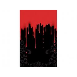 Nappe Halloween rouge noir 137 x 259 cm