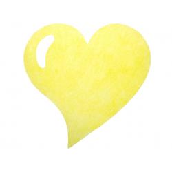 50 x Set de table tissu coeur mat jaune