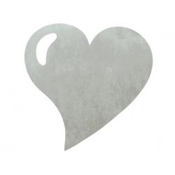 50 x Set de table tissu coeur mat gris