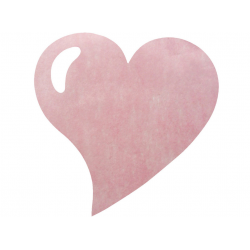 50 x Set de table tissu coeur mat rose