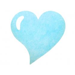50 x Set de table tissu coeur mat bleu ciel