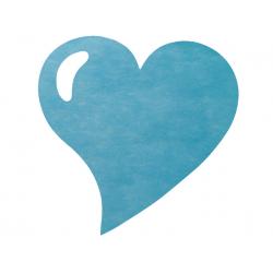 Set de table fuchsia en forme de coeur