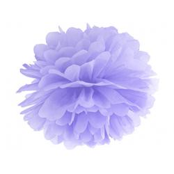 Pompon papier lilas 25 cm