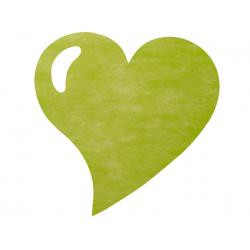 50 x Set de table tissu coeur mat vert pomme