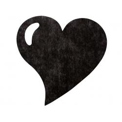 50 x Set de table tissu coeur mat noir