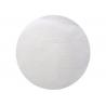 50 x Set de table tissu rond mat blanc