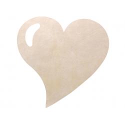 50 x Set de table tissu coeur mat ivoire