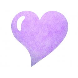 50 x Set de table tissu coeur mat lilas parme