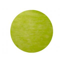 50 x Set de table tissu rond mat vert pomme