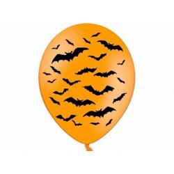 10x Ballon à gonfler orange chauve souris