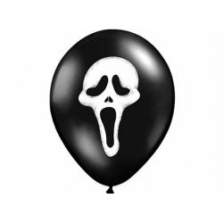 10x Ballon à gonfler noir et blanc masque Scream