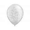 10 x ballon blanc cristal arabesques