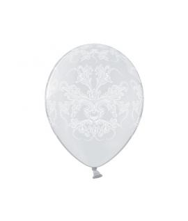 10 x ballon blanc cristal ornement mariage