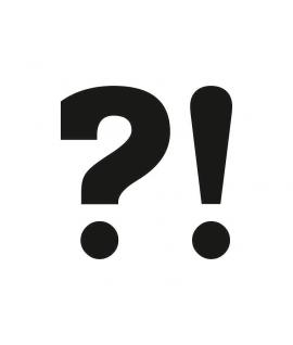 """Stickers """"YES"""" blanc sur noir 2 pièces 47x37mm"""