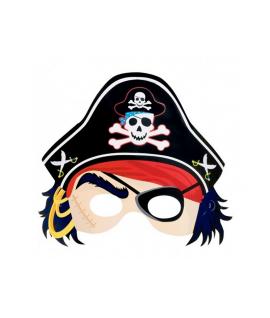 Masque de pirate en carton avec chapeau et bandeau