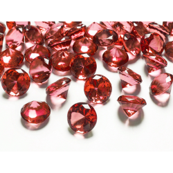 10 x Petit diamant en plastique prune (20 mm)