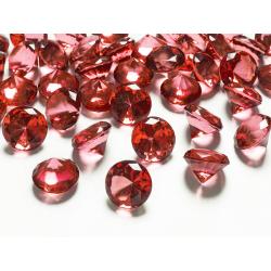 10 x diamant en plastique rouge (20 mm)