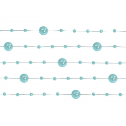 5 x Guirlande de perles menthe 130 cm