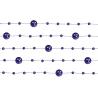 5 x Guirlande de perles violet 130 cm