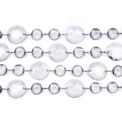 Guirlande de cristaux transparent (petits et grands) de 1 m