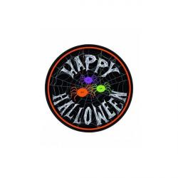 10 x assiette Halloween araignées multicolores