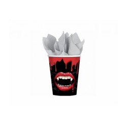 8 x gobelet Halloween dents de vampire