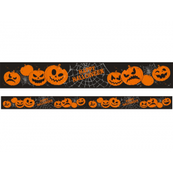 Guirlande Halloween citrouille noire et orange