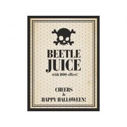 """10 x étiquette Label bouteille """"Beetle Juice"""""""