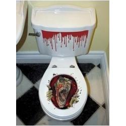 Décor Halloween siège de toilette