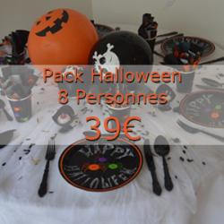 """Pack Halloween """"araignée et citrouille"""" 8 enfants"""