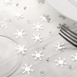 Confettis 28g flocons argentés et mini diamants