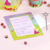 "10 x invitation ""fleurs princesse"" rose vert"