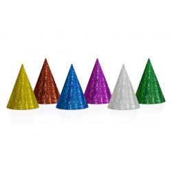 8 x chapeau pointu multicolore