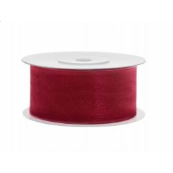Ruban soie rouge très large (38mm x 25m )