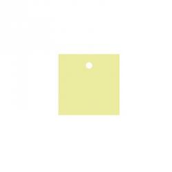 25 x Nominette verte carrée en carton (4 cm X 4 cm)