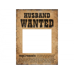 "2 x poster ""husband - wife WANTED"" pour photobooth"