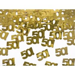 Confettis dorés anniversaire 50 ans (15 g)