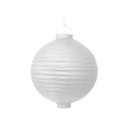 Lanterne avec LED papier blanc (30cm)