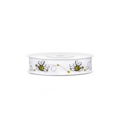 """Rouleau ruban """"abeille"""" noir et jaune 15mm"""