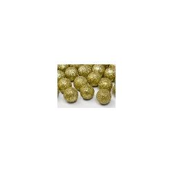 Boule décorative dorée pailletée 25 p D2cm